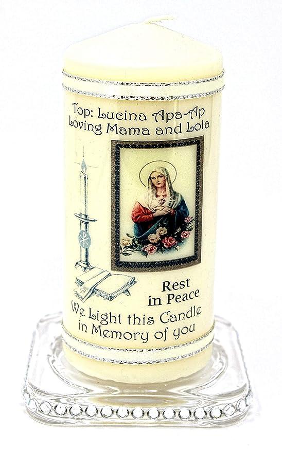 Memorial personaliseitonline descansa en paz masa vela tarjeta ...