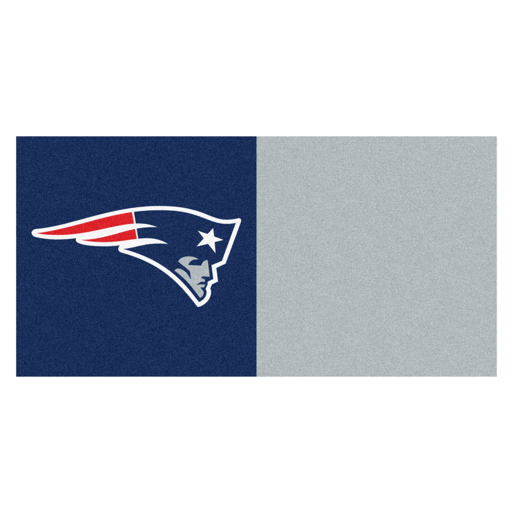 FANMATS NFL New England Patriots Nylon Face Team Carpet Tiles by Fanmats