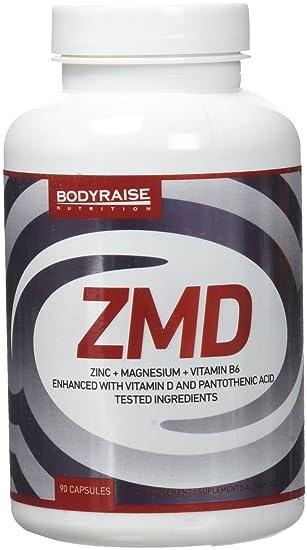 Bodyraise - ZMD 90 Cápsulas - Zinc, Magnesio y B6 - Fórmula de Vitaminas y