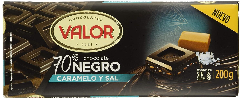 Valor, chocolate negro 70% con caramelo y sal - 17 de 200 gr. (Total: 3400 gr.): Amazon.es: Alimentación y bebidas