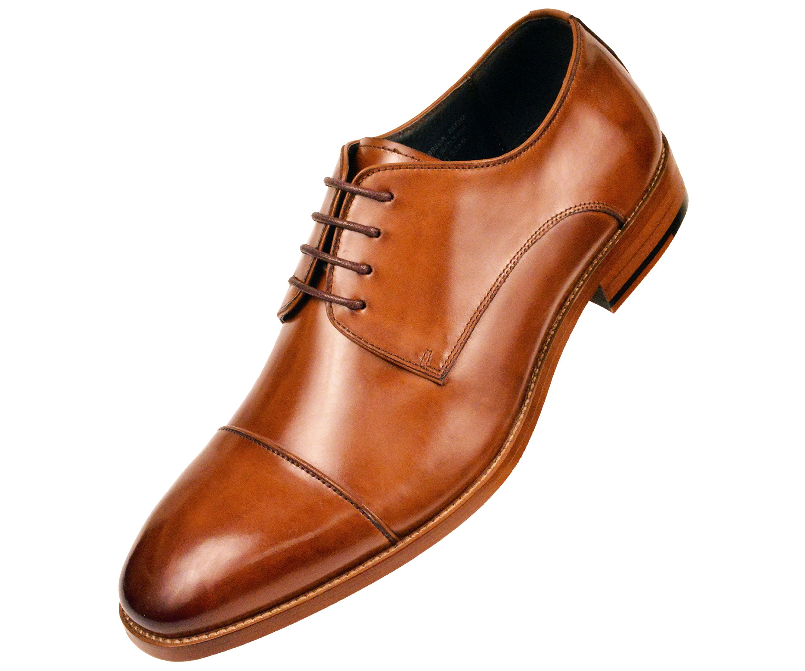 Asher Green Genuine Calf Leather Cap Toe Lace up Oxford Dress Shoe Style AG3887