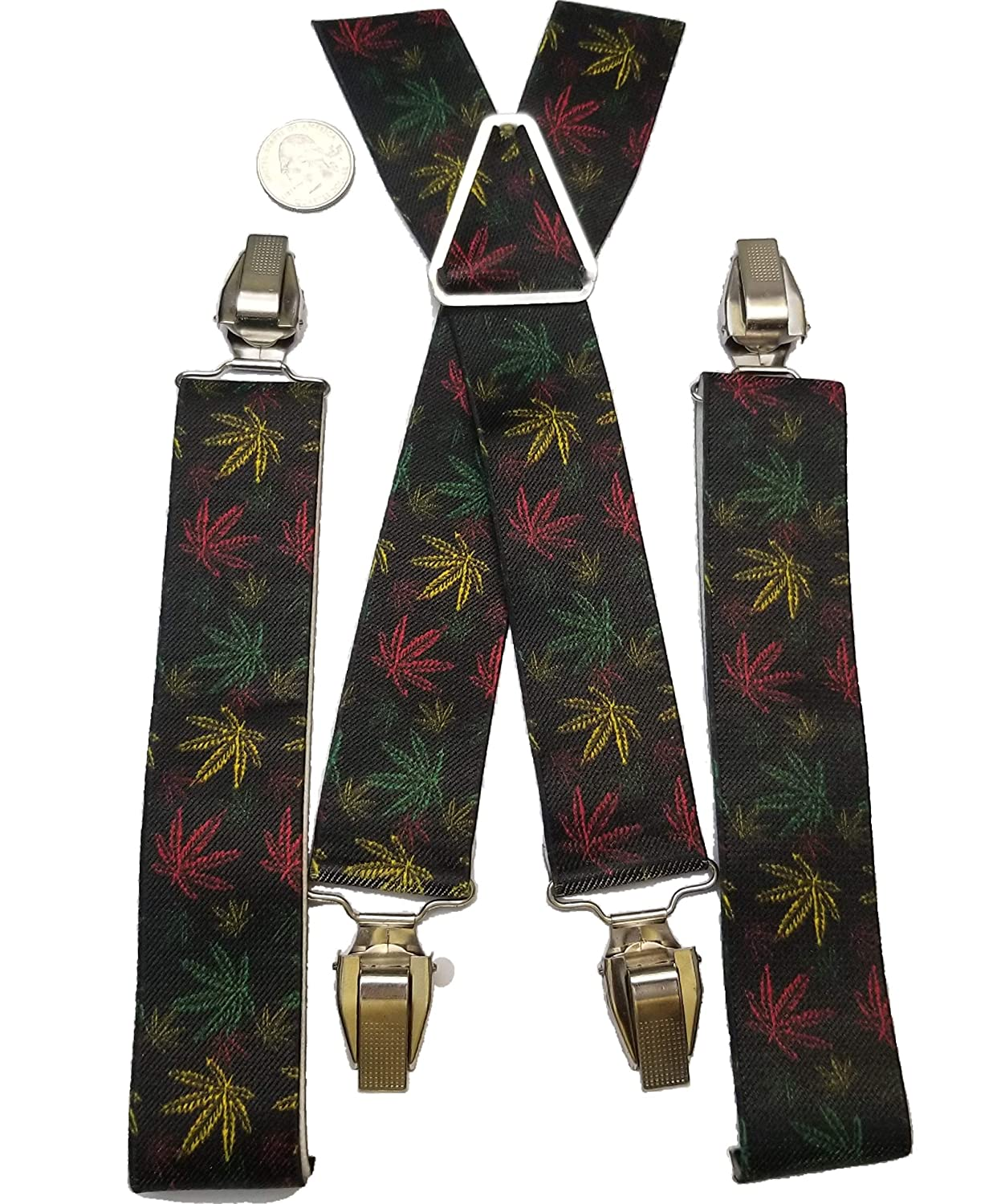 Multicolor Buckle-Down Mens Suspender-Weed One Size