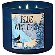 Bath and Body Works 2018 Holiday Limited Edition 3-Wick Candle (Blue Winter Sky)