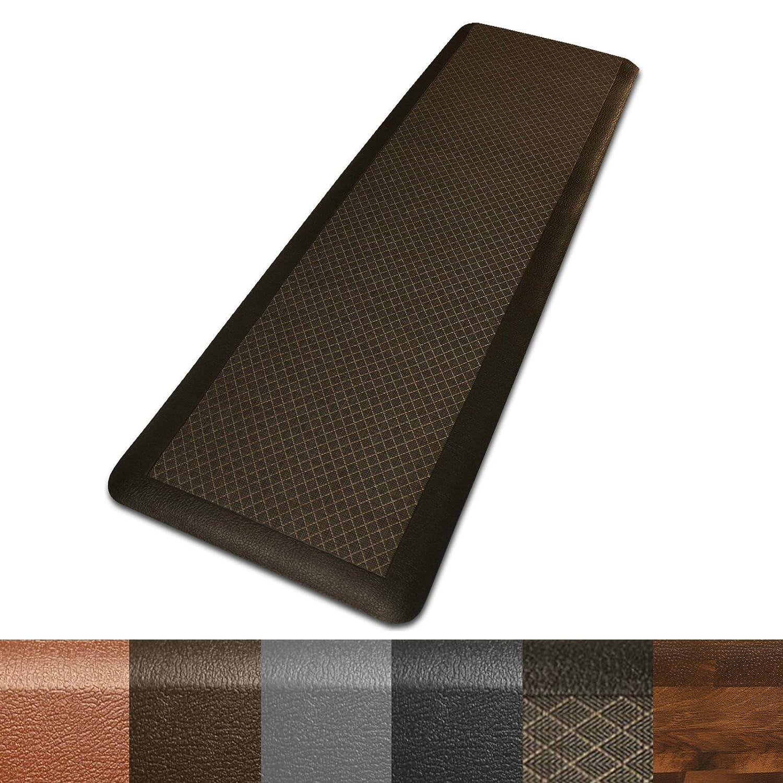 casa pura Anti Fatigue Mat, 20x39 (1'6 x 3'2)3/4 ThickStanding Comfort Mat for Kitchens, Salons, Standing Desks etc.Brown, Surfing by casa pura B01ITE6W0U  ブラウン 20\