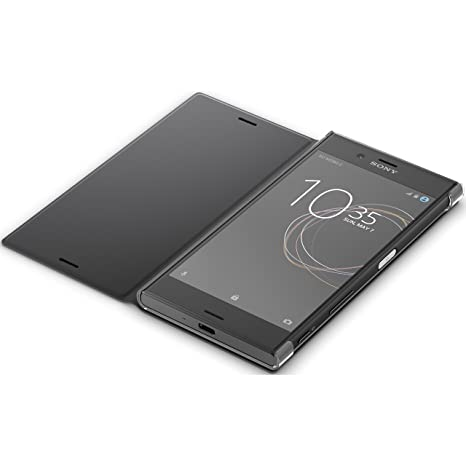 more photos 36bd8 0eccf Sony Flip Cover Stand for Xperia XZS SCSG20 Featuring Auto On/Off Upon Open  and Close - Black