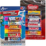12pc Candy Flavored Lip Balm Assorted Flavors Gloss (Breakfast Pack and Nestle )