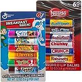 12pc Candy Flavored Lip Balm Assorted Flavors Chapstick Gloss Pez Nerds Nestle Bundle