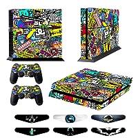 GameXcel & reg; PS4 Designer Sticker di protezione della pelle per Sony Playstation 4 console di sistema Plus Two (2) Adesivi per: PS4 Dualshock Wireless Controller - Doodle