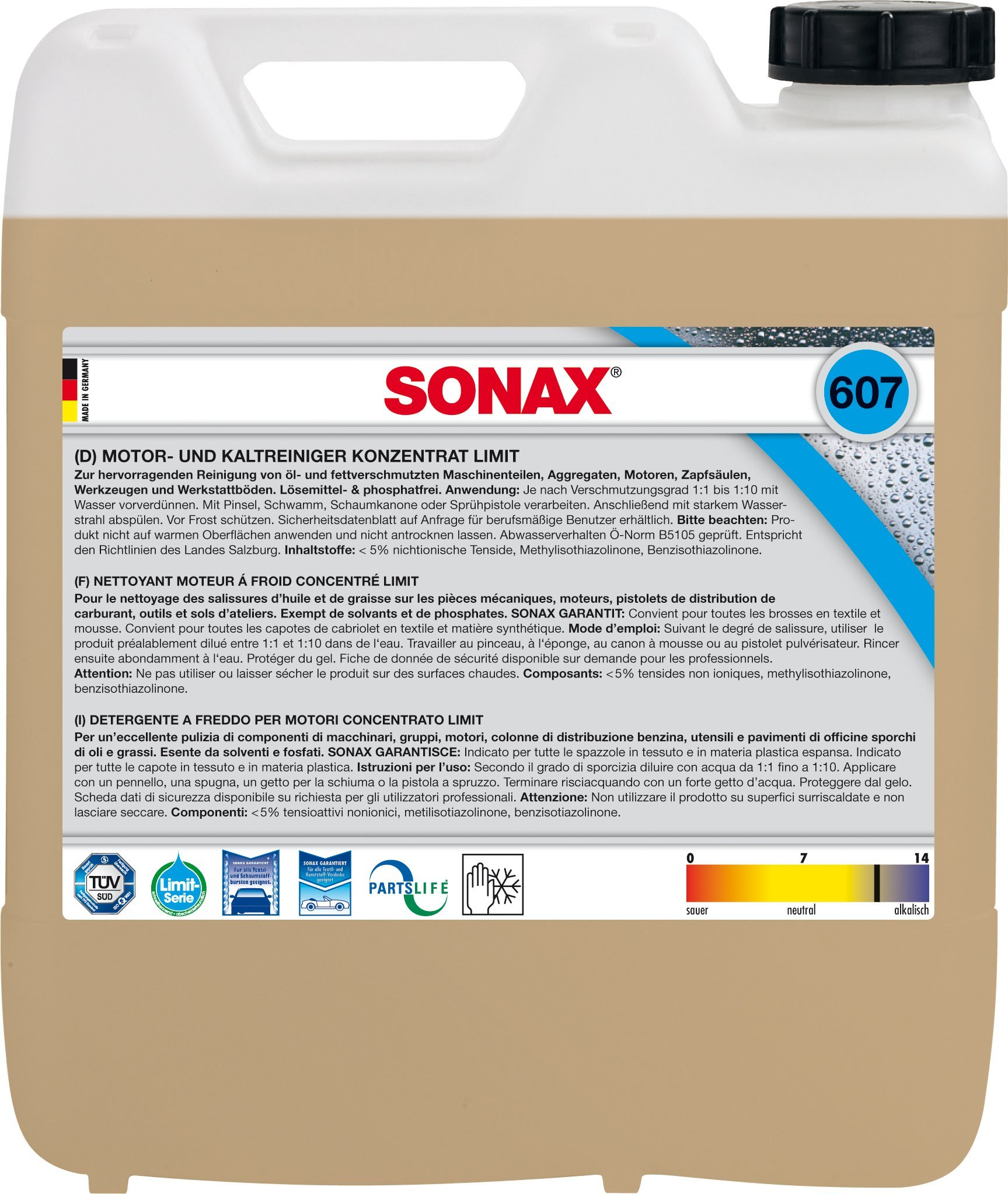 Sonax 06076000 Motor and Cold Hand Concentrate 10 Litre