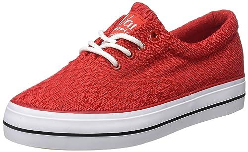 Zapatillas Rojo Shoe Deporte De Canvas Exterior Beppi Mujer Para Ezxq8Zvw