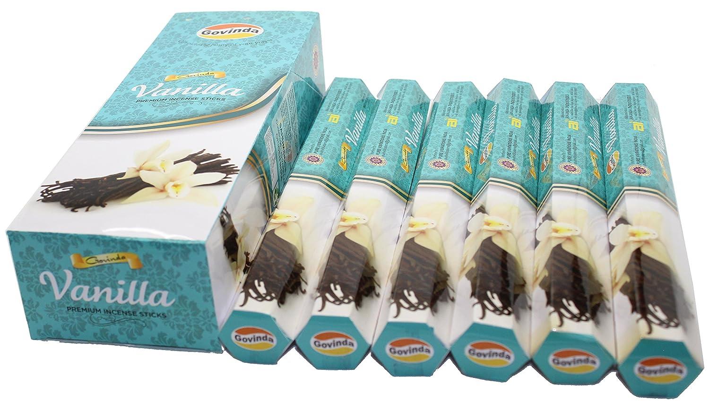 Govinda Incense Premium Incense 120 Incense Sticks Vanilla Masala Coated