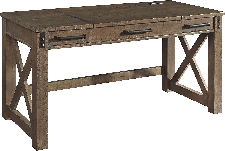 Signature Design by Ashley Aldwin Lift Top Desk, Gray