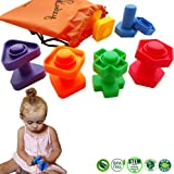Jumbo Nuts and Bolts Toddler Toys - Skoolzy Montessori Toys Building Construction Set | 12 pc Occupational Therapy Tools Matching Fine Motor Skills for Toddlers Boys, Girls | Learning Activities eBook
