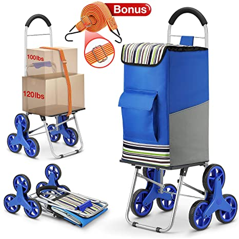 Amazon.com: Carro de la compra, Super Cargar Escalera Carro ...