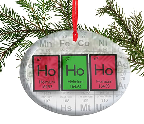 Amazon ho ho ho periodic table of elements glass christmas ho ho ho periodic table of elements glass christmas ornament urtaz Gallery