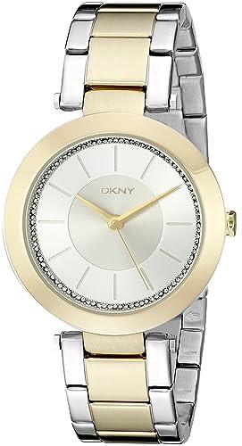 DKNY NY2334 - Reloj de cuarzo con correa de acero inoxidable para mujer, color dorado: DKNY: Amazon.es: Relojes