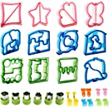 Sandwich Cutters for kids,RUCKAE 28pcs Sandwich Cutter Great For Toddler Lunch Box and Containers,includes Fruit and Vegetabl