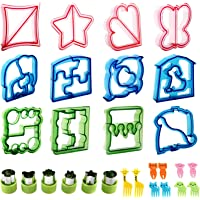Sandwich Cutters for kids,RUCKAE 28pcs Sandwich Cutter Great For Toddler Lunch Box and Containers,includes Fruit and…