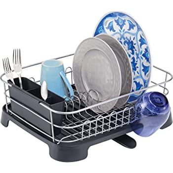 Amazon Com Esylife Kitchen Dish Drainer Drying Rack With