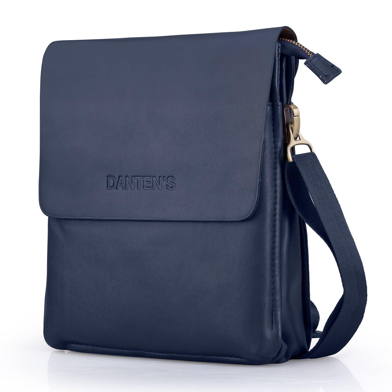 f3edca1ecef8 OFTEN Men Shoulder Bag,Leather Messenger Handbag Crossbody Bag for Men  Purse iPad Bag for Business Office Work School(Vertical,DBR)