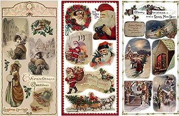 A4 Hermosa Die Cut Decoupage Ideal Para Manualidades-Navidad Vino