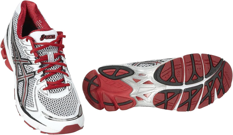 ASICS GT - 2170 - Zapatillas de Running para Hombre, tamaño 8 UK, Color Blanco/Gris/Rojo: Amazon.es: Zapatos y complementos