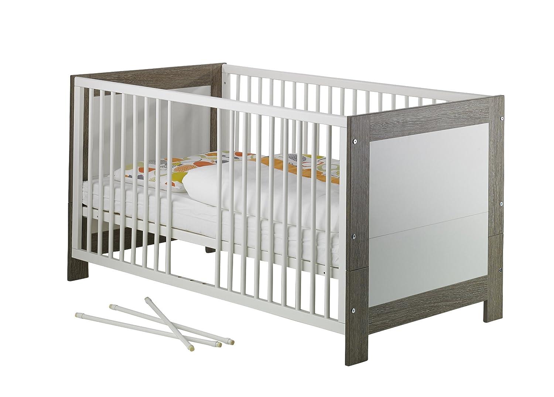 Geuther - Kinderbett Marlene, TÜV geprüft, made in in in Germany, inklusive Umbauseiten, 3 Schlupfsprossen, 3-fach höhenverstellbar, wenige-weiß fc1ed4