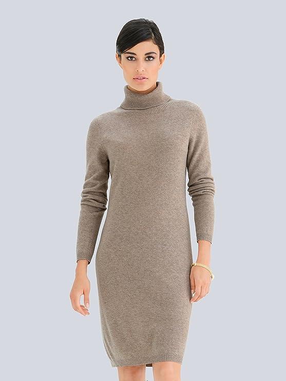 Alba Moda Damen Strickkleid aus kuschelweichem Kaschmir  Amazon.de   Bekleidung f74a9fcd46
