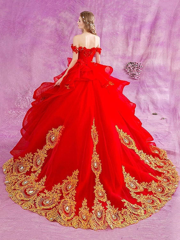 NanGer Quinceanera jurk van de schouders met gouden applicaties A lijn prinses baljurken lang tule marineblauw