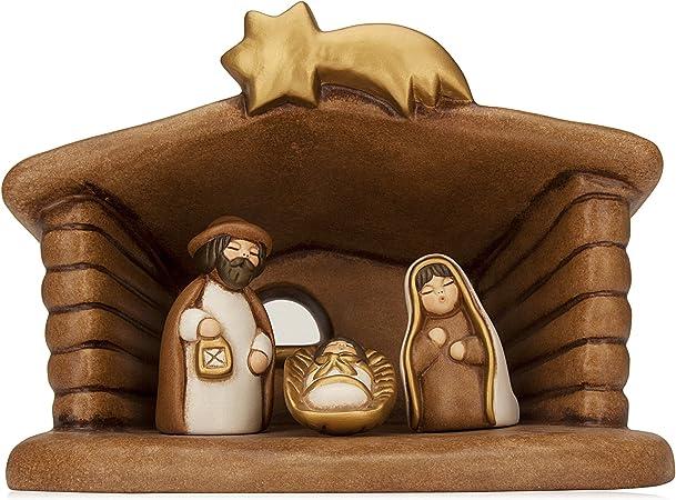 THUN - Set Presepe Classico Capanna e Sacra Famiglia - Ceramica