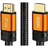 Câble HDMI 2.0 - Ultra HD 4K@60Hz 2160p - Professionnel - 3D TV - Full HD 1080p - Audio Return Channel (ARC) - Signal Vidéo Haute performance avec Ethernet - Connecteurs plaqués or - 1M IBRA Orange Gold