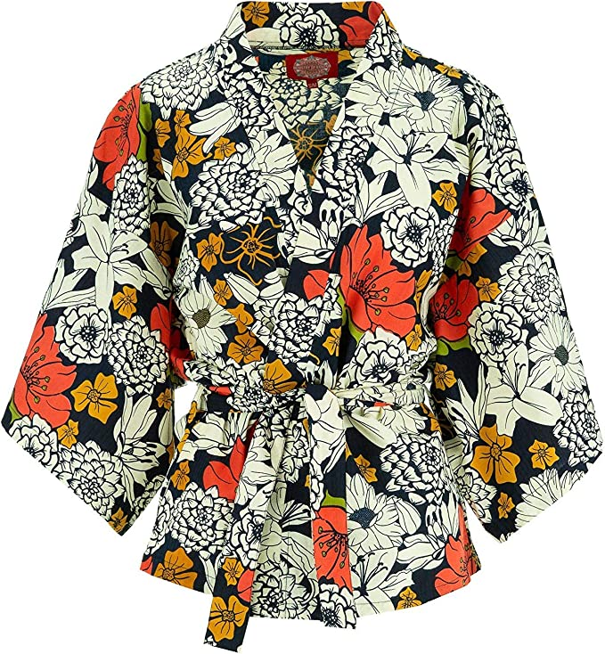 60s Shirts, T-shirts, Blouses, Hippie Shirts Ministry of Colour Happy Kimono £39.90 AT vintagedancer.com