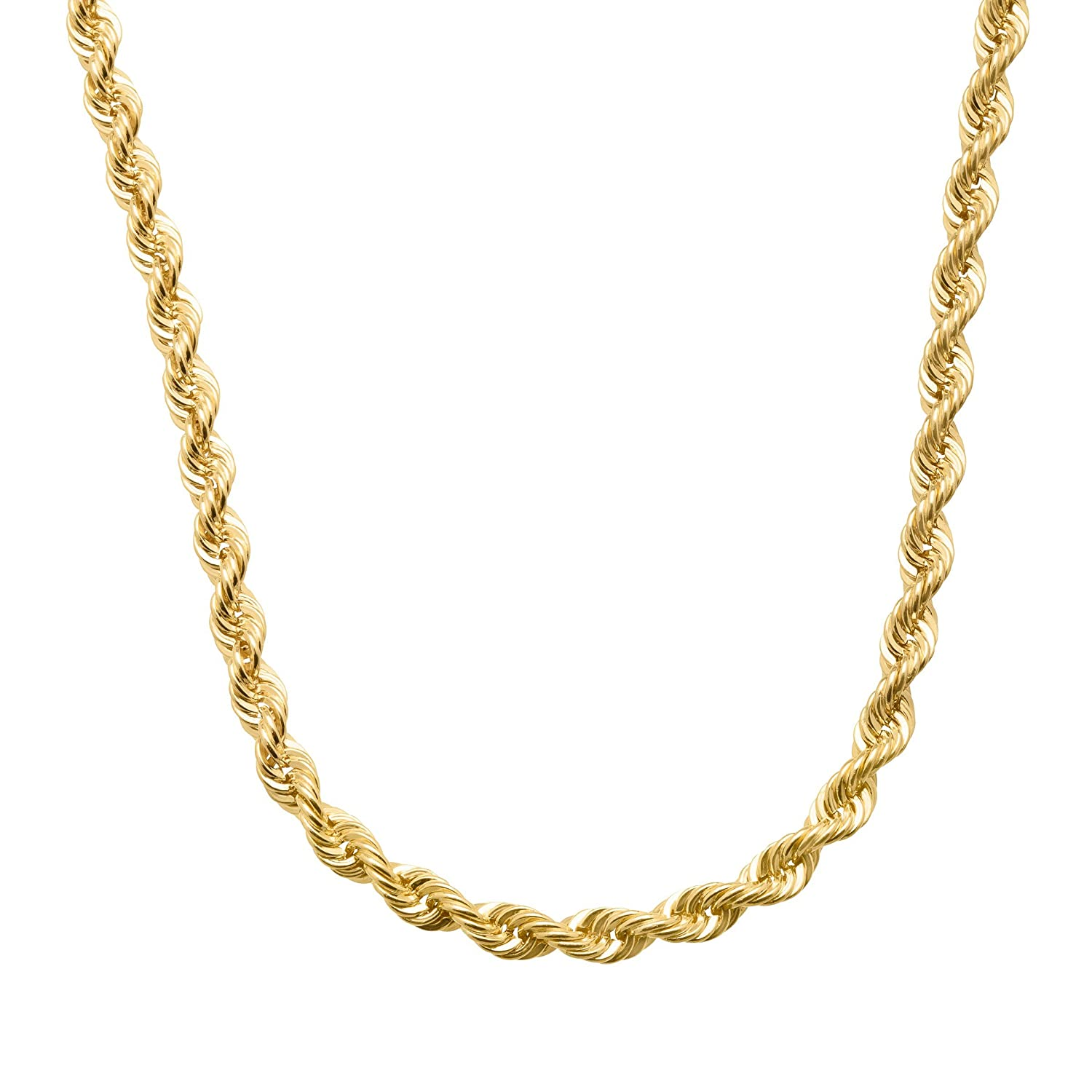 1a4d564aad3 Amazon.com: Just Gold 20-inch French Rope Chain Necklace in 14K Gold:  Jewelry