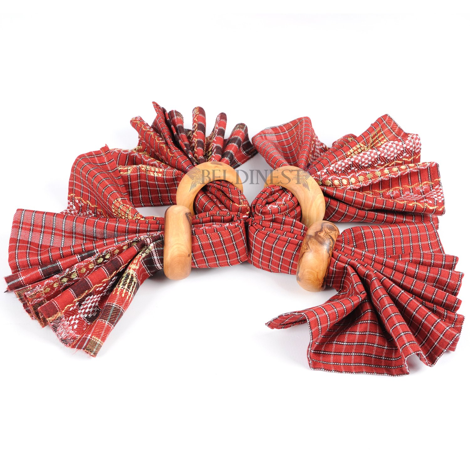 4 Napkin Rings Handcrafted From Olive Wood Set of 4 Wooden Napkin Ring Makes a Unique Gift by BeldiNest (Image #2)