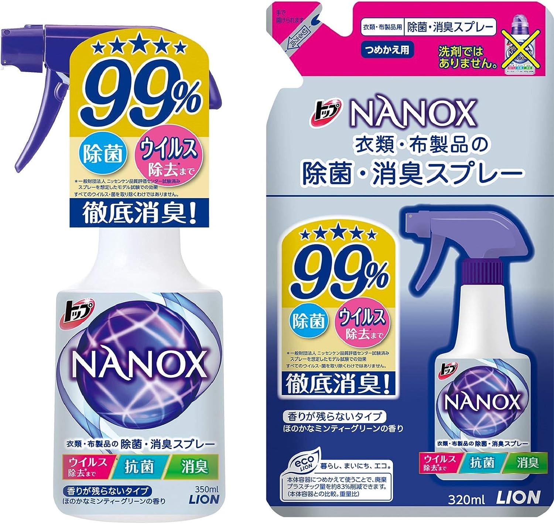 トップ ナノックス 衣類・布製品の除菌・消臭スプレー