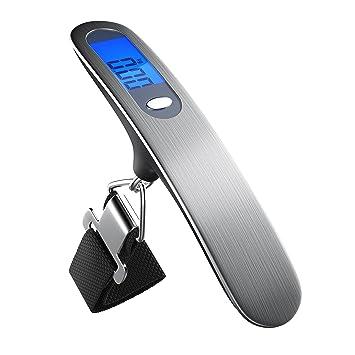Brandson - Balanza digital para maletas con pantalla LCD | Maletas / de mano / de suspensión / de viaje | mín. 100g / máx. 50kg: Amazon.es: Equipaje