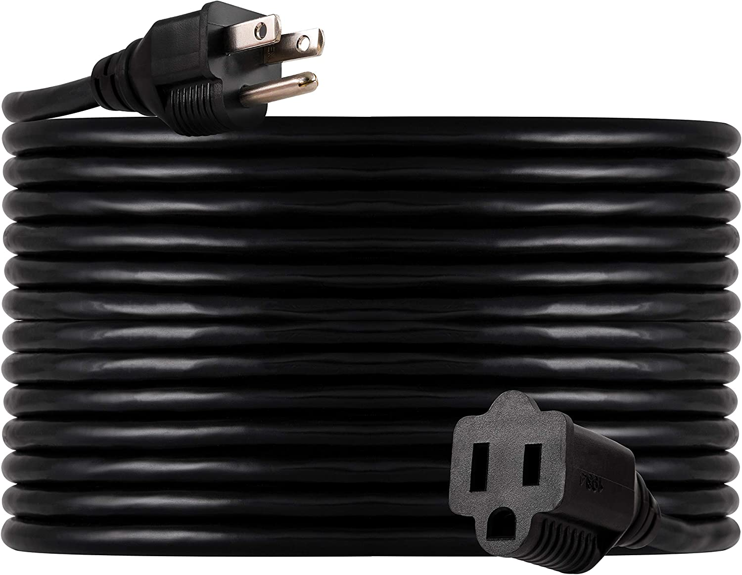 UltraPro, Black, GE 40 ft Extension, Indoor/Outdoor, Grounded, Double Insulated Cord, UL Listed, 36826