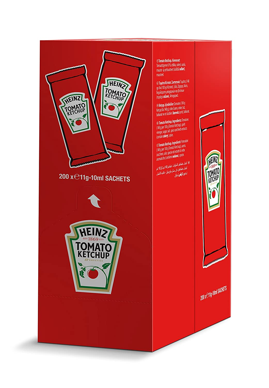 Heinz salsa ketchup monodosis 10 ml caja 200 unidades: Amazon.es: Alimentación y bebidas
