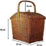 Brown Village Large Brown Colour Picnic Basket