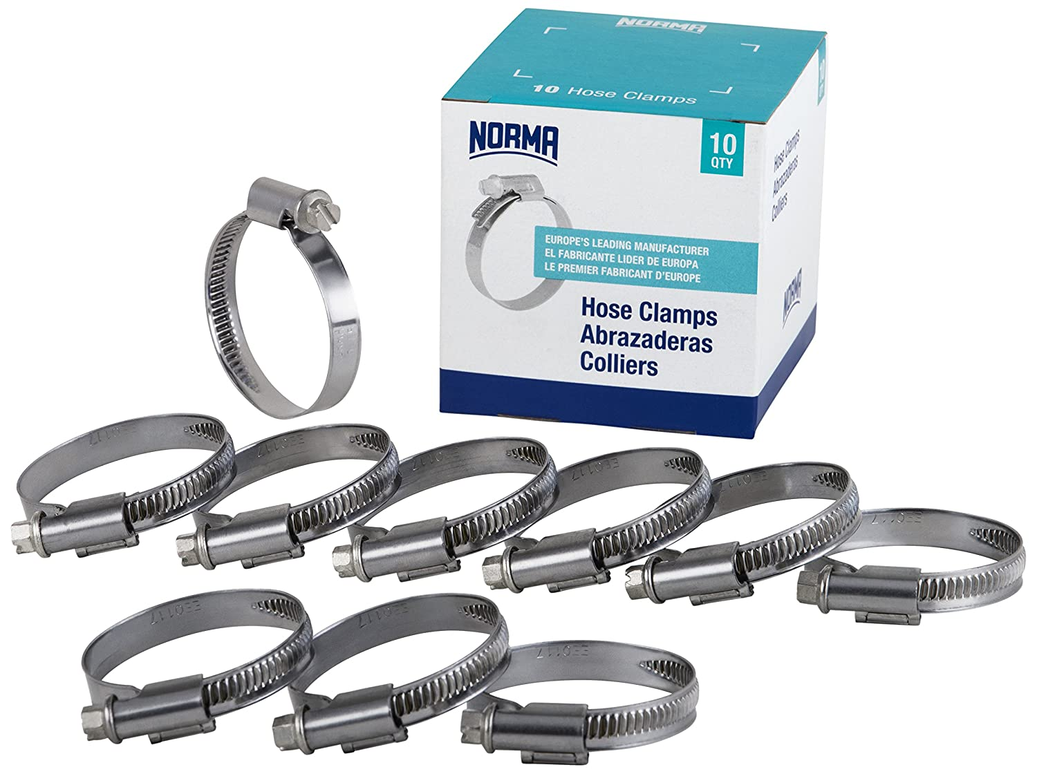 16 mm-27 mm x 12 mm W4 NORMA 01366704021-000-0539 Hose Clamps Pack of 10