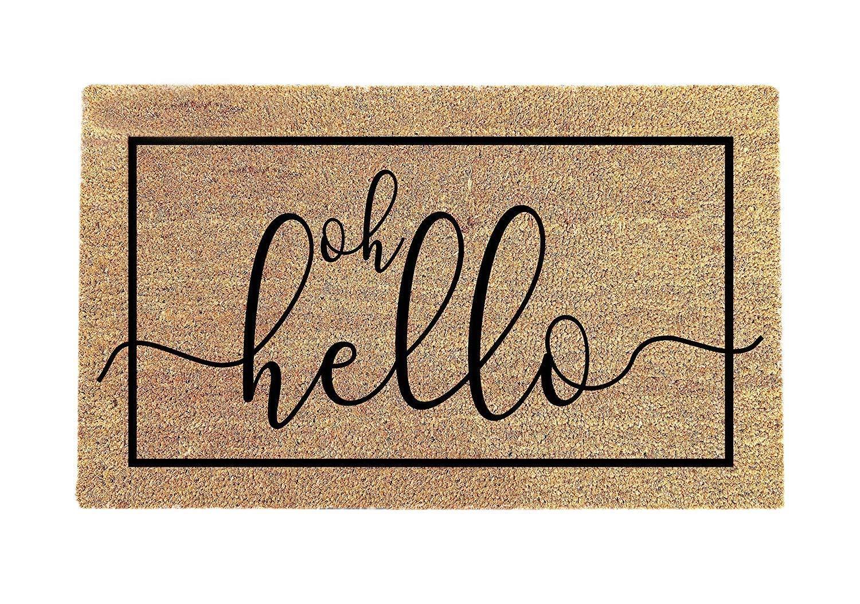 oh hey doormat|Welcome Doormat|Funny doormat|Front Door Decor|Housewarming Gift|Wedding Gift|Birthday Gift|Client Gift