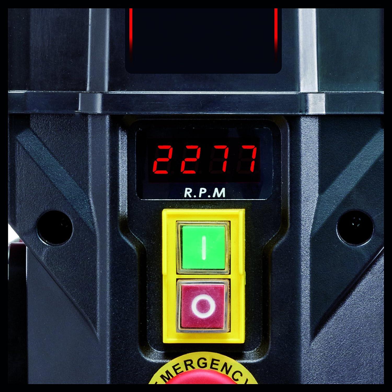 750 W, Profondeur de per/çage : 80 mm, Affichage LCD de la vitesse, Pi/ètement stable, Inclinable et pivotante, But/ée de profondeur r/églable Einhell Perceuse /à colonne TE-BD 750 E