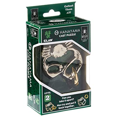 BePuzzled Hanayama Cast Metal Brainteaser Puzzles - Hanayama Claw Puzzle (Level 2): Toys & Games