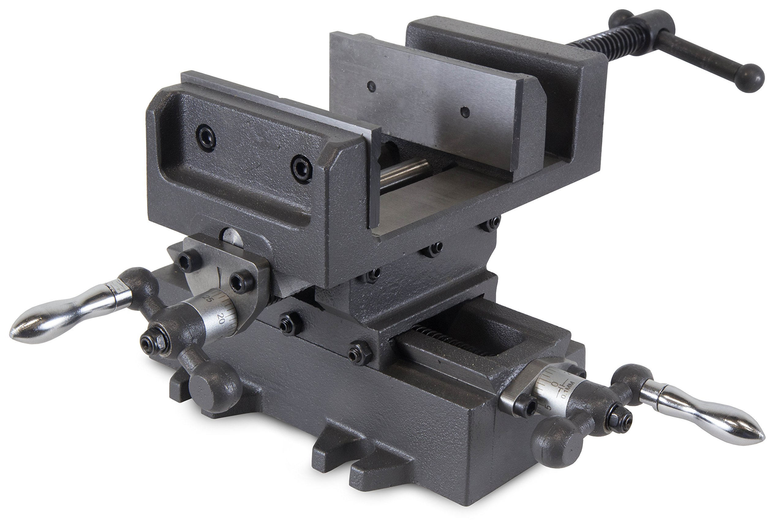 WEN 414CV 4.25'' Compound Cross Slide Industrial Strength Benchtop & Drill Press Vise