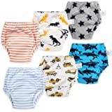 MooMoo Baby Potty Training Pants 4 Packs Toddler Training Underwear Washable Cute Animal Pattern Breathable for Boy and Girl