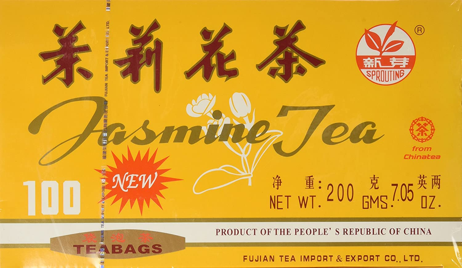Chinese Jasmine Limited time for free shipping Green Tea by 100 Bags A2AWorld Cash special price