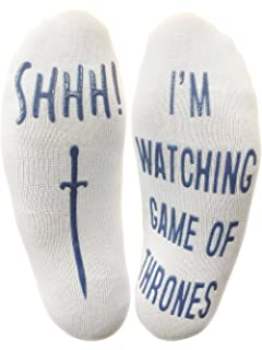 Shhh Im Watching Game Of Thrones Funny Socks