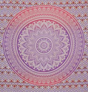 Tye and dye purple and pink Queen Size mandala Tapestry