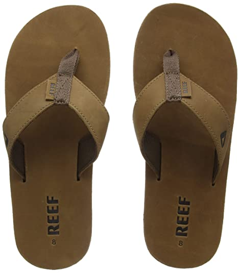 f77ef5cd9a18 Amazon.com  Reef Leather Smoothy Flip Flops for Men  Shoes