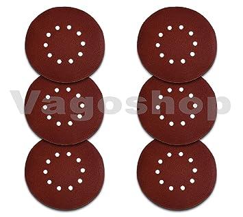 25x Schleifscheiben 225mm 10 Loch Klett Schleifpapier für Trockenbauschleifer